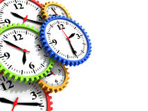Time. Abstract 3d illustration of background with clock gear wheels and copy space Royalty Free Stock Photo