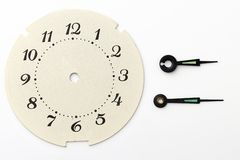 Time. Clock face and hands separated Royalty Free Stock Photos