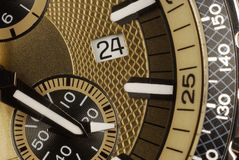 Time. Hand watch close-up view Stock Photo