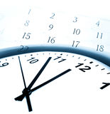 Time. Clock face and calendar numbers royalty free stock photo
