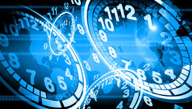 Time. Abstract the world technology use for background