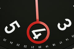 Time 4 o'clock. Hour hand pointed at 6 o'clock.Usable for design element for business indicating 4am or 4pm Stock Images
