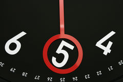 Time 5 o'clock. Hour hand pointed at 5 o'clock.Usable photo for design element for business indicating 5am or 5pm Royalty Free Stock Photos