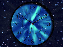 Time. Clock is floating in space. Time Stock Photo