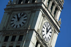 Time. A tower with two clock faces showing the time royalty free stock photo