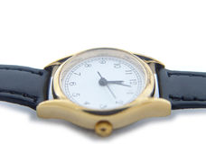 Time. Watch isolated on a white background royalty free stock photos