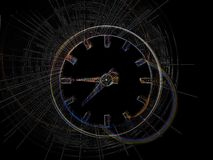 Time. Abstract clocks stock illustration