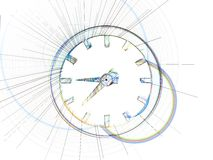 Time. Abstract clocks royalty free illustration