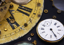 Time. Fragments of clockworks royalty free stock photos