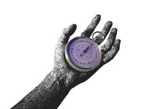 Time. Alarm arrow black clock hand man stopwatch time watch Stock Photos