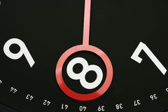 Time 8 o'clock. Hour hand pointed at 8 o'clock.Usable for design element for business indicating 8am or 8pm Stock Photos