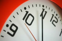 Time. Close up orange clock royalty free stock photo