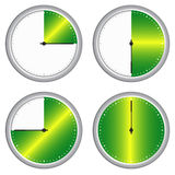 Time. Vector illustration of clock time Royalty Free Stock Photo