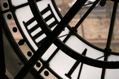 Time. Detail of a big clock Royalty Free Stock Photography