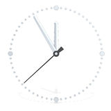 Time. Abstract 3D metal clock at five to twelve Royalty Free Stock Images