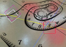Time Abstract. Multi hued composition Stock Photography