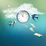 Time Abstract Vector Concept Design Stock Photography