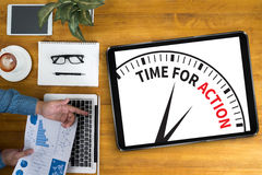 TIME FOR ACTION Stock Images
