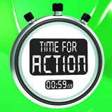 Time for Action Clock Shows To Inspire And Motivate Royalty Free Stock Photo