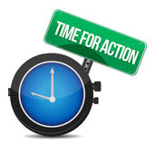 Time for action concept Royalty Free Stock Image