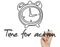 Time for action concept handwritten. On blackboard Stock Photography