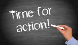 Time for action Royalty Free Stock Photos