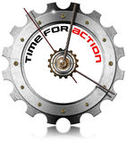 Time for Action - Metallic Gear Royalty Free Stock Images