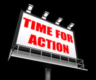 Time for Action Sign Shows Urgency Rush to Act Stock Photo