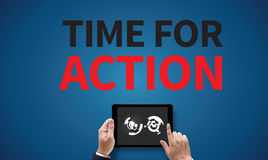 TIME FOR ACTION Royalty Free Stock Images