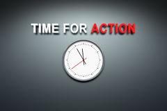 Time for action at the wall Stock Photography