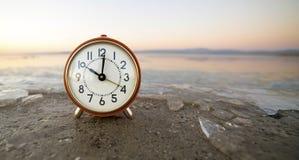 Time - alarm clock banner Stock Photo