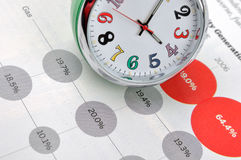 Time And Business Data Royalty Free Stock Image