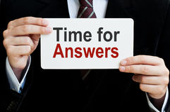 Time for Answers Stock Photos