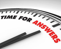 Time for Answers - Clock Royalty Free Stock Photography