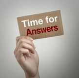 Time for answers Royalty Free Stock Photography