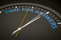 Time for answers Stock Photography
