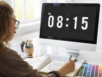 Time Appointment Schedule Punctual Graphic Concept Stock Images