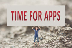 Time for apps Stock Photo