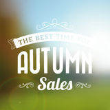 Time for autumn sales typography poster Stock Photo