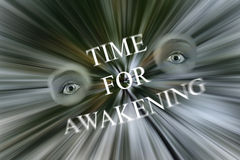Time For Awakening Eyes Wide Open Illustration Stock Photos