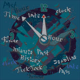 Time Background Royalty Free Stock Photography
