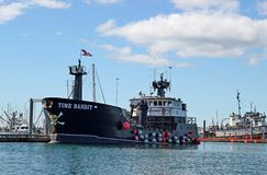 Time Bandit at port in Homer, Alaska Stock Image