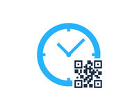 Time Barcode Icon Logo Design Element Royalty Free Stock Images