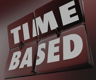 Time Based Words Clock Retro Tiles Flipping Measure Results Royalty Free Stock Photos