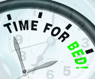 Time for Bed  Shows Insomnia Or Tiredness. Time for Bed  Showing Insomnia Or Tiredness Stock Photos