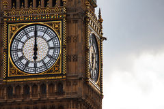 Time on Big Ben Stock Image