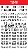 TIME black icons Stock Photography