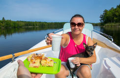 Time for boat trip break Royalty Free Stock Photo