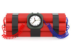 Time bomb with dynamite and clock Stock Photography