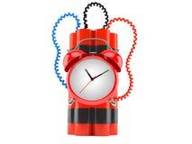 Time bomb. On white background Stock Image